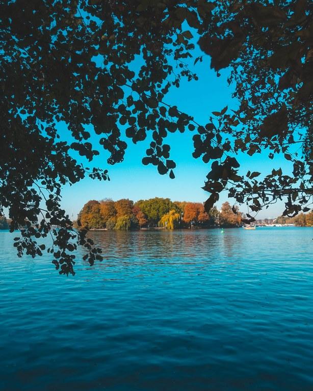 Wasserstadt Stralau - Blick aus dem Plänterwald