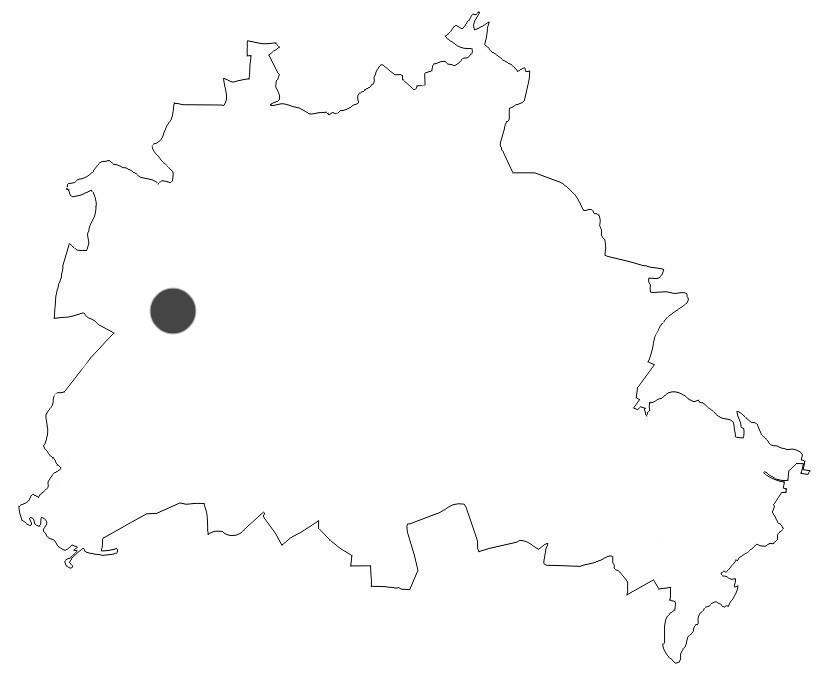 Stadtkarte Berlin Halbinsel Schildhorn