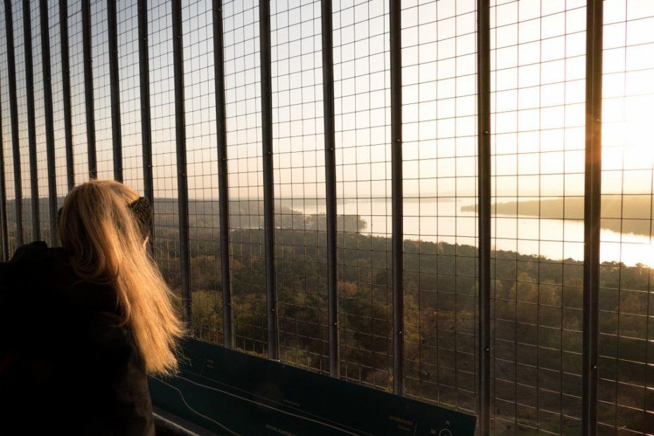 Sonnenuntergang vom Grunewaldturm