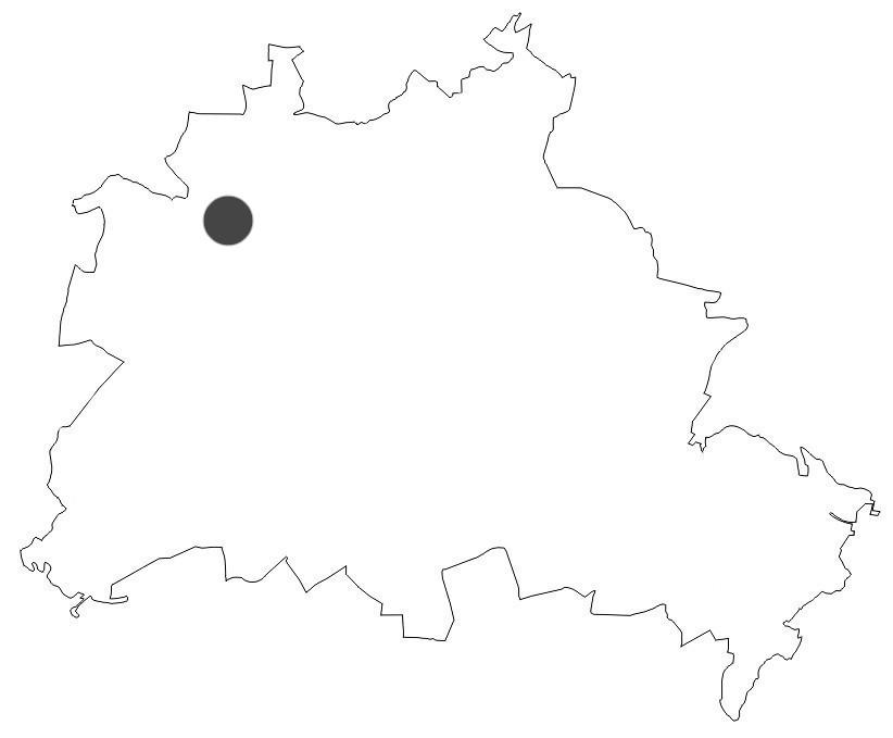 Der Tegeler See - Berlinkarte
