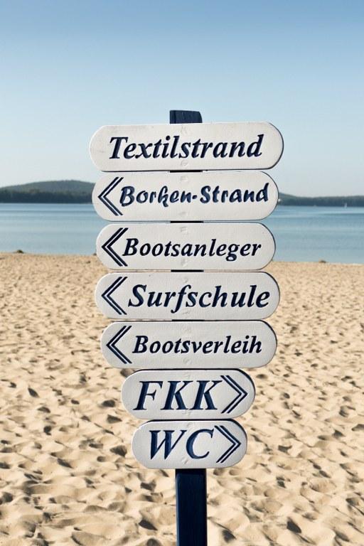 Strandbad Müggelsee - Wegweiser