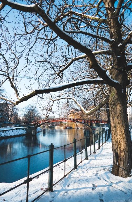 Hiroshimasteg im Winter