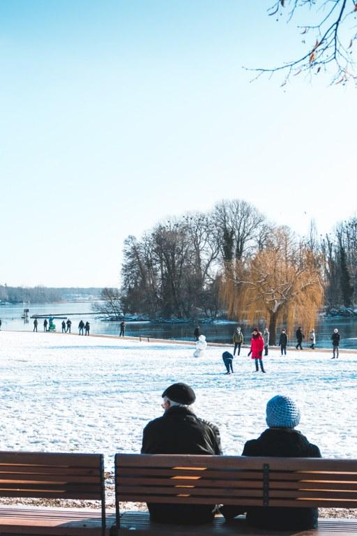 Kladower Promenadenhafen im Winter