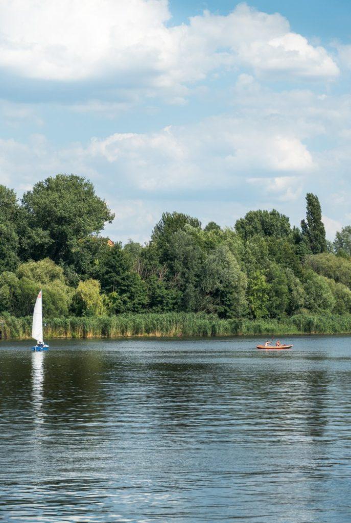 Boote auf dem Rummelsburger See